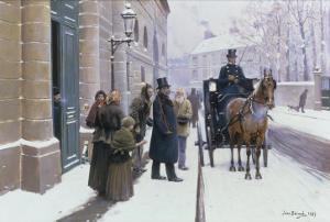 La Sortie du Bourgeois, 1889 by Jean Béraud