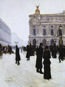 Outside the Opera, Paris, 1879 by Jean Béraud
