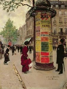 Paris Kiosk, Early 1880s by Jean Béraud