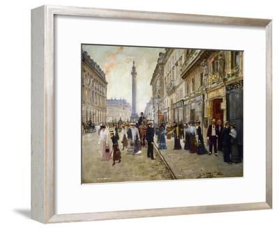 Sortie des ouvrières de la maison Paquin, rue de la Paix, vers 1902