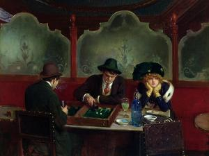 The Backgammon Players by Jean Béraud