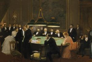 The Game Room, 1889 by Jean Béraud