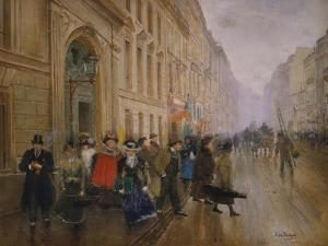 The Music Conservatory at Boulevard Poisssoniere, 1889 by Jean Béraud
