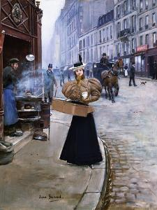 The Roasted Chestnut Seller by Jean Béraud
