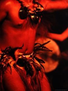 Detail of Traditional Male Dancer, Cook Islands by Jean-Bernard Carillet