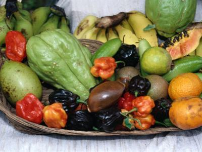 Display of Local Tropical Fruit, Martinique