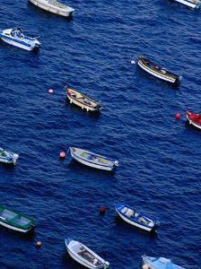 Fishing Boats at Anchor, Cape Sizun, Brittany, France by Jean-Bernard Carillet
