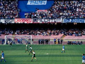 Football Match at Stadio San Paolo, Naples, Italy by Jean-Bernard Carillet
