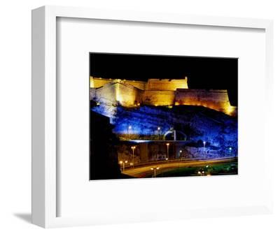 Fort Saint-Nicolas, Lit Up at Night, Marseille, France