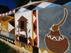 Fresco on Wall, Victoria Falls Park, Zimbabwe by Jean-Bernard Carillet