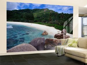 Granite Boulders of Anse Cocos Beach by Jean-Bernard Carillet