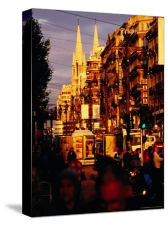 Late Afternoon in Canebiere, Main Thoroughfare, Marseille, France