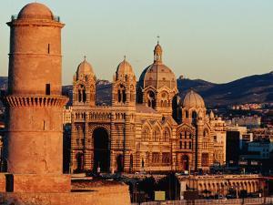 Nouvelle Cathedrale and Ancienne Cathedrale De La Major, Marseille, France by Jean-Bernard Carillet