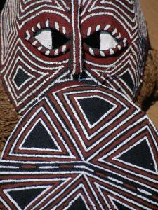 Painted Mask, Victoria Falls Park, Zimbabwe by Jean-Bernard Carillet