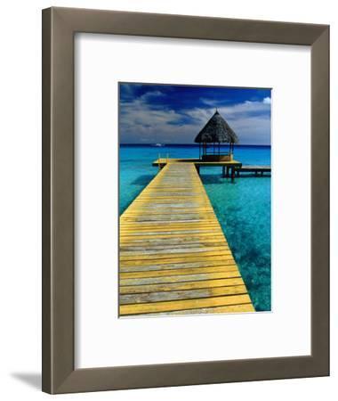 Pontoon and Hut Over the Lagoon, Rangiroa, Taumotus, The, French Polynesia