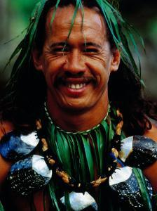 Portrait of Traditonal Dancer, Cook Islands by Jean-Bernard Carillet