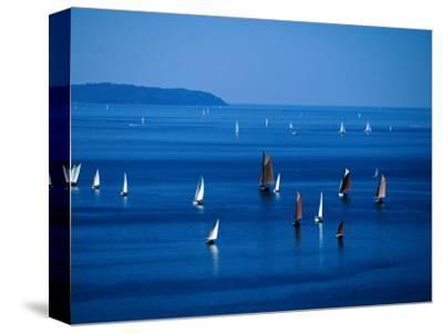 Sailing Boats in Bay, Brest, France