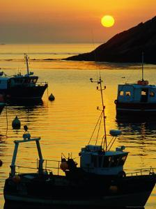 Sunset on Harbour, Le Conquet, France by Jean-Bernard Carillet