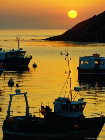 Sunset on Harbour, Le Conquet, France
