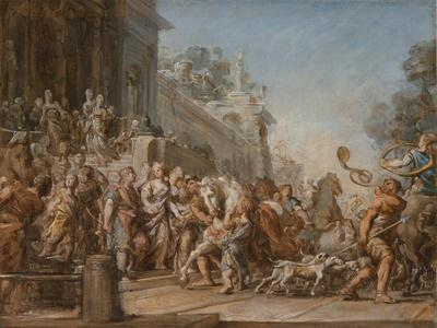 The Departure of Dido and Aeneas for the Hunt, 1772-4