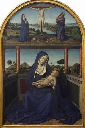 Madonna with Child, Detail from Triptych, 1485