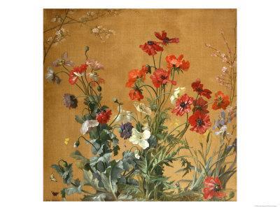 Poppies, Irises and Blossom