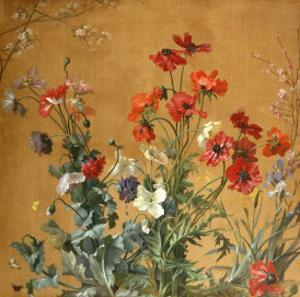 Poppies, Irises and Blossom by Jean Brenner
