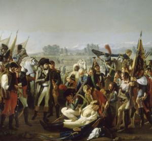 Mort du général Desaix à la bataille de Marengo le 14 juin 1800 by Jean Broc