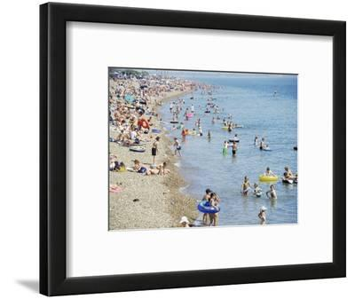 Beach on a Hot Day, Southsea, Hampshire, England, United Kingdom