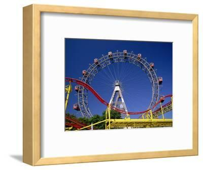Big Wheel with Roller Coaster, Prater, Vienna, Austria, Europe