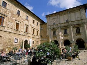 Cafe, Piazza Grande, Montepulciano, Tuscany, Italy by Jean Brooks