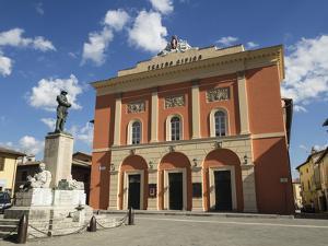 Civic Theatre, Piazza Vittorio Veneto, Norcia, Umbria, Italy, Europe by Jean Brooks