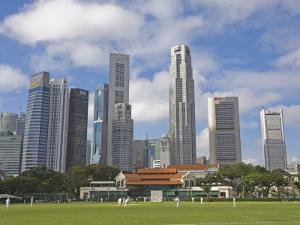 Cricket on the Padang, Singapore, Southeast Asia, Asia by Jean Brooks