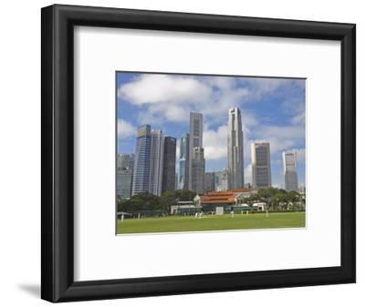Cricket on the Padang, Singapore, Southeast Asia, Asia