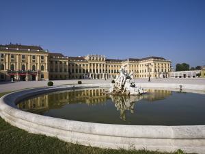 Front Facade, Schonbrunn Palace, UNESCO World Heritage Site, Vienna, Austria, Europe by Jean Brooks