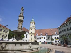 Main Square (Hlavne Namestie), Old Town, Bratislava, Slovakia, Europe by Jean Brooks