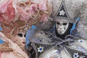 Masks and Costumes, Carnival, Venice, Veneto, Italy, Europe by Jean Brooks