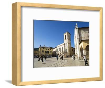 Piazza San Benedetto, Norcia, Umbria, Italy, Europe