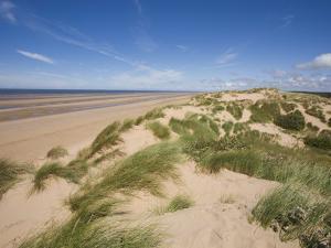 Sand Dunes on Beach, Formby Beach, Lancashire, England, United Kingdom, Europe by Jean Brooks