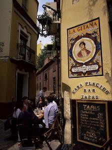 Tapas Bar, Barrio Santa Cruz, Seville, Andalucia, Spain by Jean Brooks