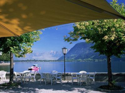 View of the Lake from Cafe, Zell Am See, Austria