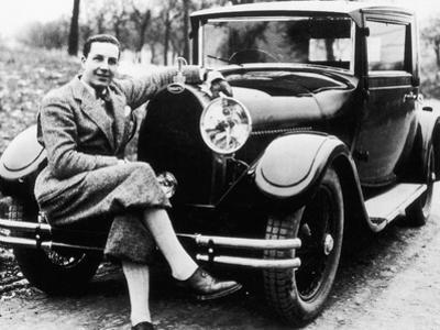 Jean Bugatti Pictured with a Bugatti Car, 1930S