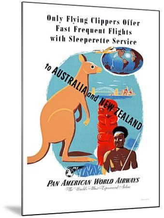 Fast Frequent Flights/ Pan Am World Airways / Australia and New Zealand by JEAN CARLU