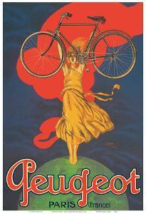 Peugeot Bicycles - Paris, France by Jean Carlu