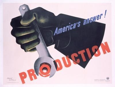 Production - America's Answer! Poster by Jean Carlu