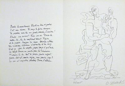 Jean Cassau-Ossip Zadkine-Limited Edition