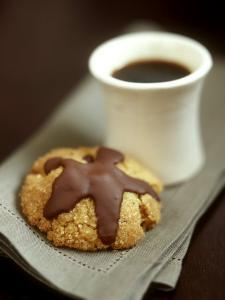 Coffee Sand Biscuits with Chocolate Icing by Jean Cazals