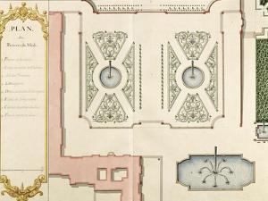 """Recueil des """"Plans des châteaux et jardins de Versailles en 1720"""" ; Composé pour Louis-Antoine de by Jean Chaufourier"""