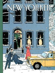 The New Yorker Cover - February 10, 1997 by Jean Claude Floc'h