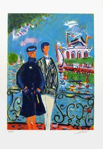 Couple à Enghien by Jean-claude Picot